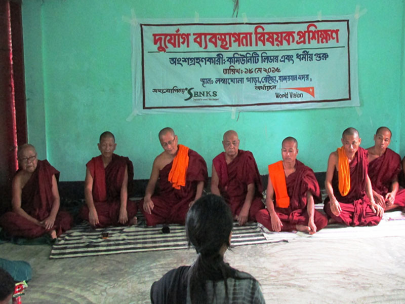 Awareness session  with religious leader about natural disaster