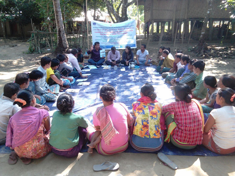 Farmer level training on JUM rice seeds production and preservation