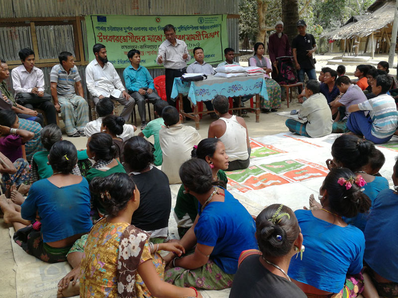 Input Distribution on Fertilizer and Poulty Cash for Beneficiaries