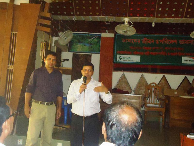 ADC Bandarban giving speech at awareness workshop